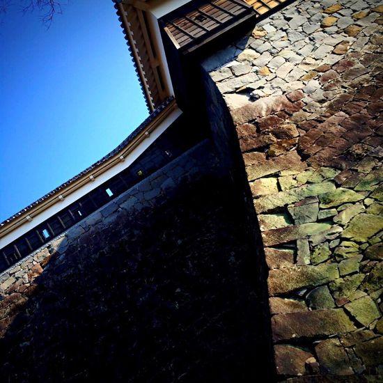 Japan Blue Sky Kumamoto Castle 武者返し 初詣 熊本城