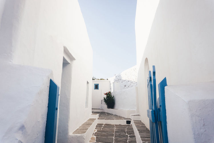 View of alley in sifnos, greeece