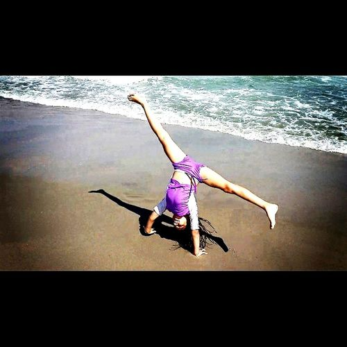 Exercising Skill  Splits, Toe Touch, And Cartwheels Child Summer Gymnast