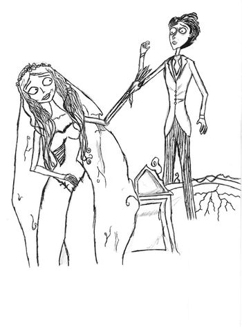 my artwork Drawing Sketch Art Check This Out corpse bride movie ;)