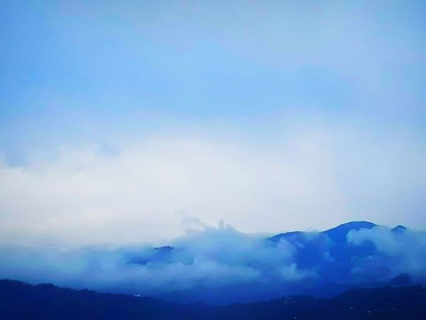 Nature EyeEmNewHere #Nature  #foggy #cloudy Blue Ethereal Sky Cloud - Sky Cloudscape Meteorology Atmospheric Mood
