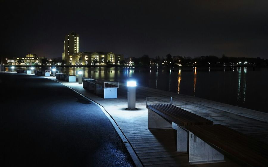 Jönköping by night Cityscapes Lake Buildings Nightshot Urban Landscape Long Exposure City