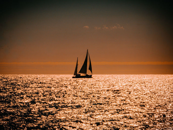 A yacht sailing past enjoying another beautiful day in the english channel
