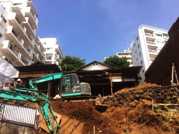 Sayonara old wooden house on the hill. :-( Demolition Tokyo House Old House Abandoned House Progress