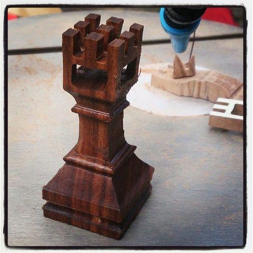 Elyap ımı Ilkdeneme Satran ç Kale Chess Castle scrollsaw kıltestere