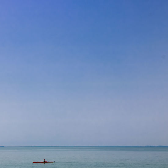 Atlantic Ocean Canoeing Holidays Beauty In Nature Blue Clear Sky Copy Space Day Horizon Horizon Over Water Loire Atlantique Nature Nautical Vessel No People Scenics - Nature Sea Sky Summer Tranquil Scene Tranquility Transportation Travel Trip Vacations Water