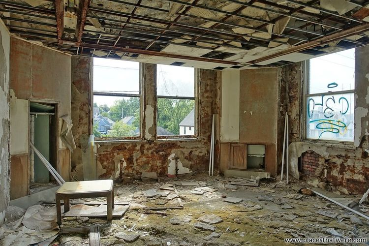 Interior of abandoned house