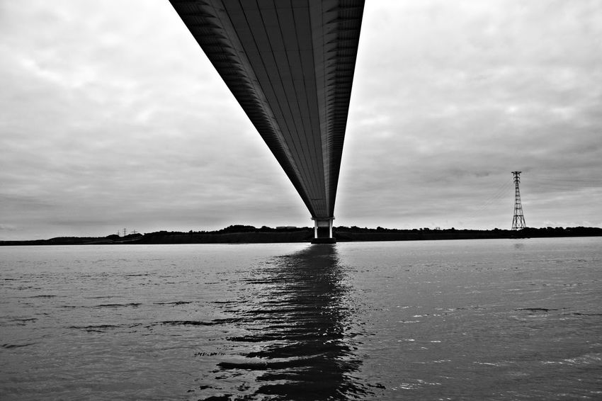 River Severn Bridge UK Architecture Black & White Black And White Photography Bridge - Man Made Structure Built Structure Cloud - Sky Connection Day Nature No People Outdoors River River Severn Bridge Sky Underneath Water