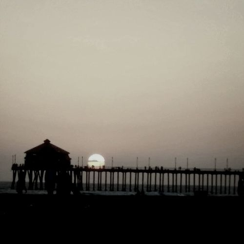 Beach Sunset Pier Huntington Beach
