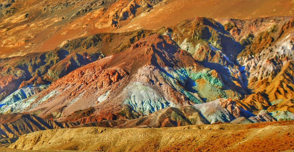 EyeEmNewHere Death Valley Multi Colored Mountain Scenics Landscape Geology Nature Mountain Range Beauty In Nature No People Outdoors Tundra Day Artists Palette Drive