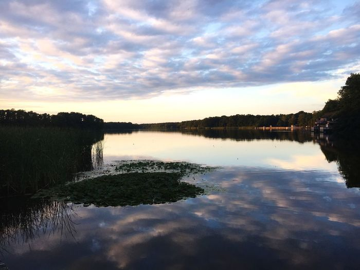 Reflexion Germany Brandenburg Water Reflection Cloud - Sky Sky Tranquility Lake Tree Tranquil Scene Beauty In Nature Scenics - Nature Nature Idyllic Outdoors Sunset