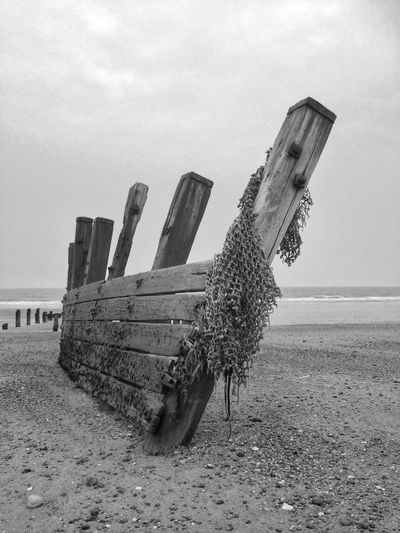 Black And White Snapseed Beach East Yorkshire Spurn Point IPhone Breakers