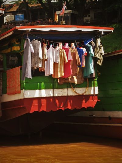 View Of Clothes Drying In Boat