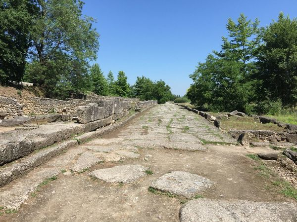 Roman road in Macedonia. (1) Greece Photos Dion Outdoors Old Ruin Ancient Civilization Historic Park Ancient History Open Museum