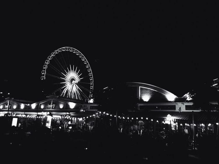 Cityscape Illuminated Arts Culture And Entertainment Outdoors Asiatique Thailand Travel Blackandwhite Black And White Blackandwhite Photography City
