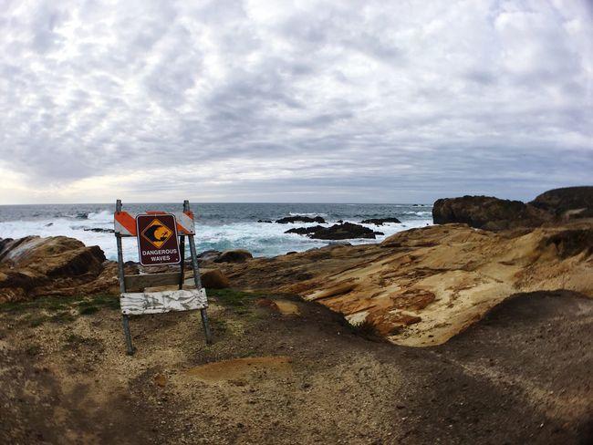 Danger Dangerous Dangerous Waves Waves Storm High Surf Ocean Sign Point Lobos Carmel-by-the-sea California United States Pacific Ocean