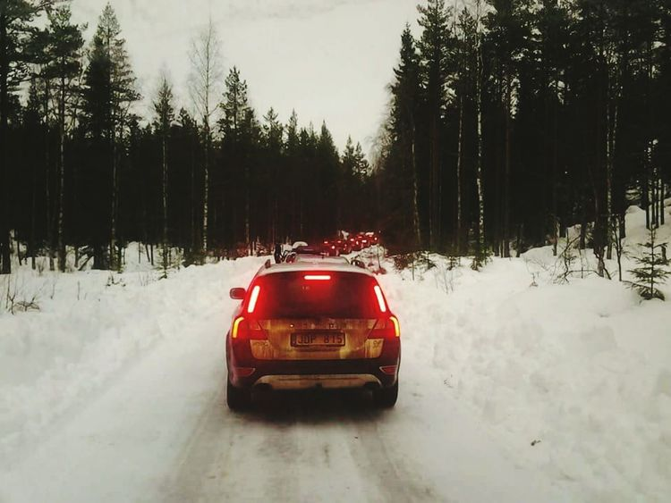 Car Transportation Travel Wet On The Move Tree Red Winter Driving Road Nature Dirt Road Cold Temperature No People Snow Day Outdoors