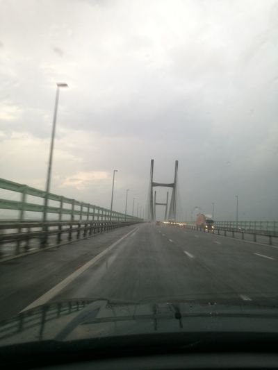 MeinAutomoment River Severn Bridge Rainy Day Wales