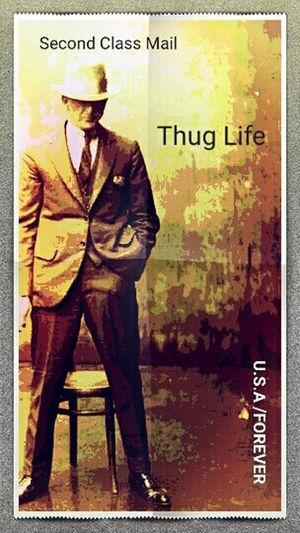 Gangsters Paradise Gangsta Gangster Gangsters Paradise Postage Stamp Slick Stamp Art Suit Thug