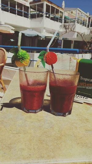 Fuerteventura Smoothie Smoothies Berry Berries Sun Glass Shopping Center Vintage Fruit Beach Drinking Straw Cold Temperature Ice Cube Blended Drink