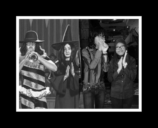 Yes, I'm the witch♥ John Lennon And Yoko Ono You And Me I Love You Black And White