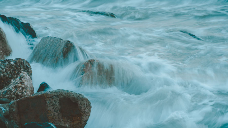 Close-up of sea waves