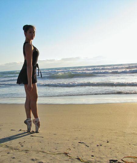 Beach Photography Ballet Dancer Ocean View Enjoying Life Imperial Beach California Waterfront Dancing Dance Outdoors