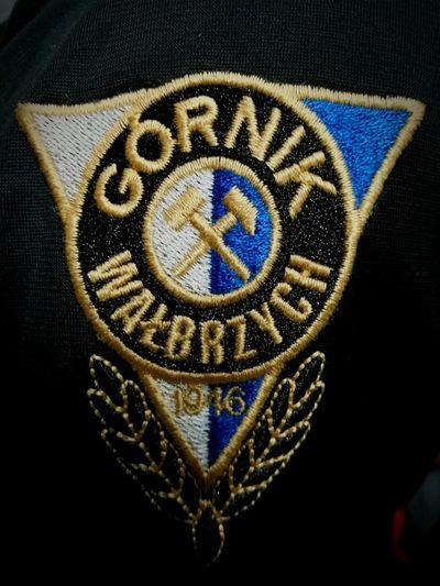 No People Indoors  White Blue Football Football Club Poland, Logo Górnik Wałbrzych Textile Close-up Day