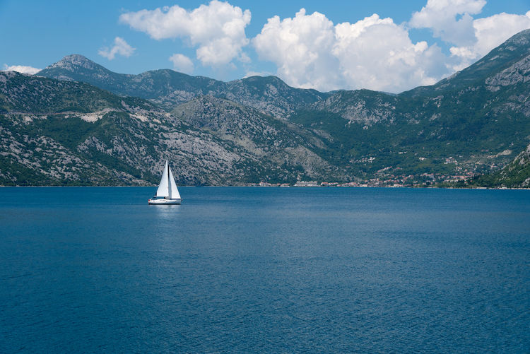 Kotor Bay Beauty In Nature Day Kotor Kotor, Montenegro Landscape Montenegro Mountain Mountain Range Nature Nautical Vessel No People Outdoors Sailboat Sailing Scenics Sea Sky Tourism Tourism Destination Tourist Destination Tranquil Scene Tranquility Transportation Water Waterfront