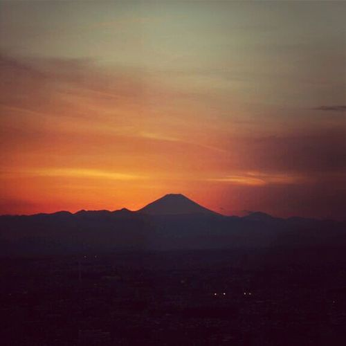 Sunset Mountains Enjoying The Sunset Twilight Mt.Fuji Japan 富士