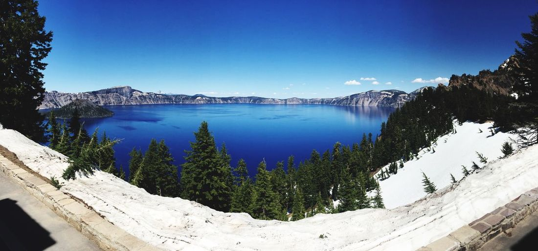 Wizard Island, Crater Lake Crater Lake Crater Lake National Park EyeEm Selects Scenics - Nature Tree Beauty In Nature Water Sky Plant Lake Clear Sky Tranquil Scene Blue Nature Mountain