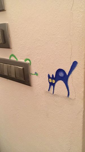 Graffiti Wall Painting Painting EyeEm Selects Wall - Building Feature No People Animal Animal Representation Mammal Sand Representation Creativity Animal Themes Art And Craft Toy Pets Architecture Domestic Domestic Animals