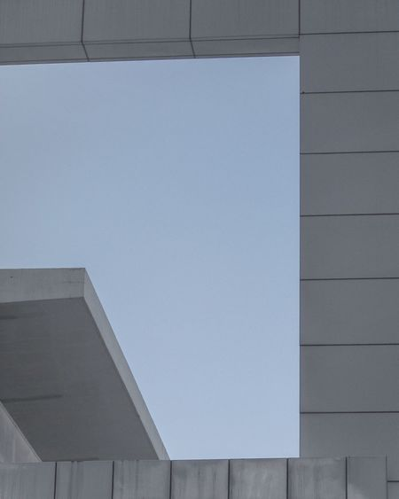 Perspective Façade Geometry Bluesky Blue Architecture_collection Architecture Minimalism Built Structure Building Exterior Copy Space No People Day Outdoors Low Angle View Clear Sky Close-up