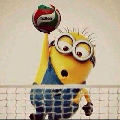 Aman Allahim o da ne? Minion  sayi mi yapacak yoksa? Sarikanarya Sarilacivert Fenerbahce  voleybol volleyball istanbul :)