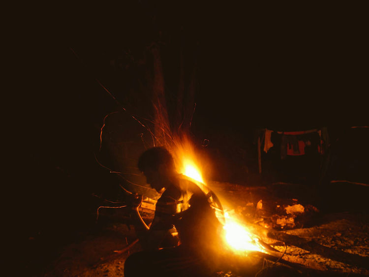 Heat - Temperature Only Men Adults Only Metal Industry Men Working One Man Only One Person People Flame Adult Foundry Molten Outdoors Spirit Confidence  Supernatural Nightphotography Nikonphotography Nightshot Finding New Frontiers