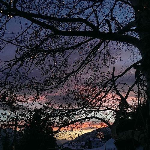 Valdifassalove Tramonto Wintertime Skyline lucieombre mountain