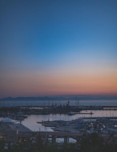 Sunset colors at a marina in Athens Athens, Greece GREECE ♥♥ Greece Photos Sunlight Sunset Silhouettes Sunset_collection Athens Athensvibe Blue Clear Sky Greece Mountains Nautical Vessel No People Sailboat Sea Sea And Sky Seascape Sky Sun Sunset Sunsets Tranquil Scene Tranquility Water