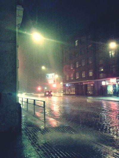 Riga Rigalatvia Rain RainyDay Rain In The City