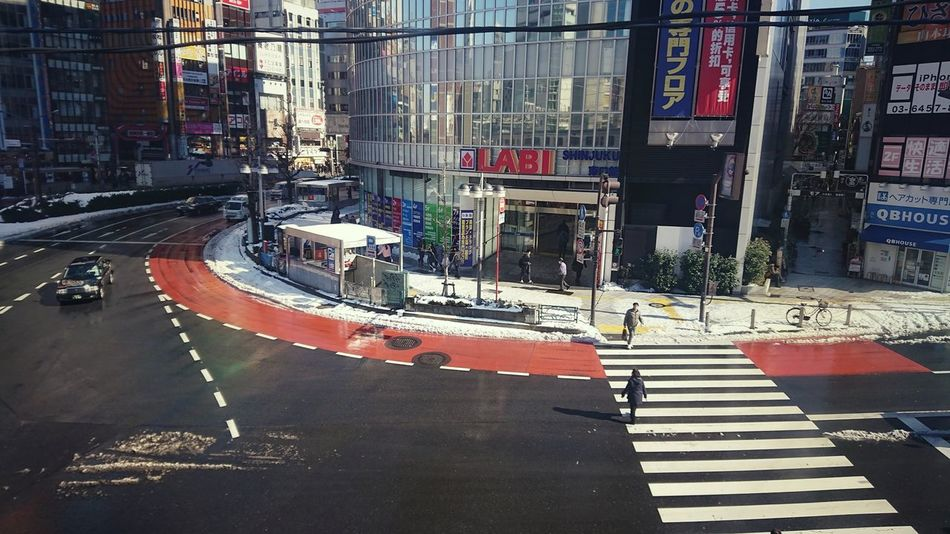 埼京線から View From Train Window From Train Window People Crosswalk Road Cars Reflection City Life Cityscape Shinjuku Tokyo,Japan Day Architecture No People Building Exterior City