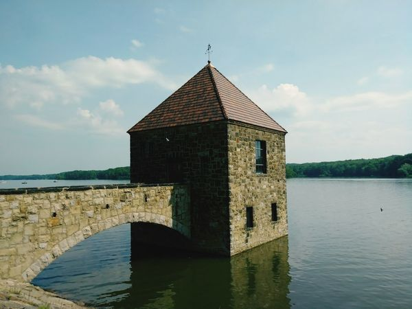 Castle Water Dam Spillway Architecture Building Exterior Built Structure Sky Tranquility Cloud - Sky Outdoors No People Lake Day Nature