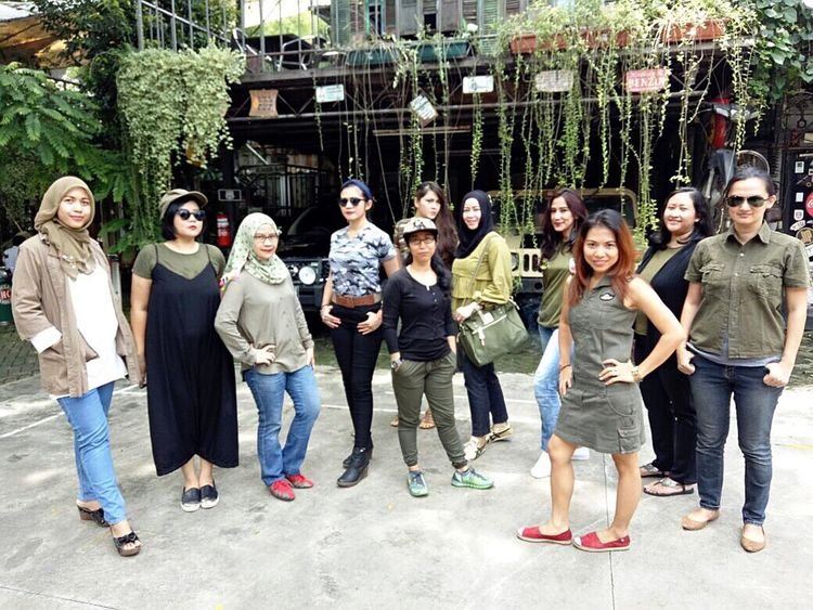 """Batch 11, """"ARMY LOOK"""" by IMLC Mommies, at Kopi Boutique/Yesterday Backyard Coffee shop, Cipete, South Jakarta. Arisan IMCH By ITag Arisan 11 By ITag ImpressiveMindsMoms Friends By ITag"""