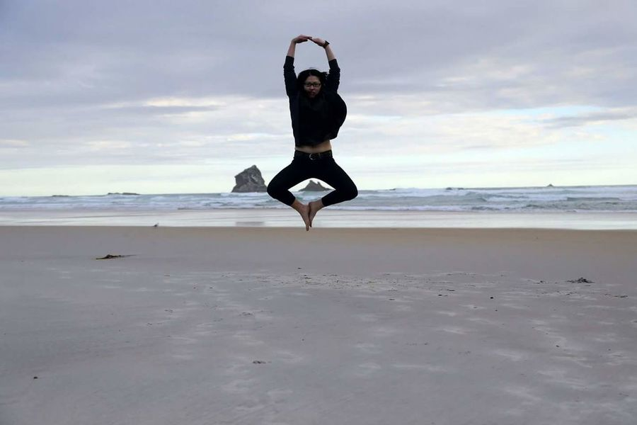 Keep calm and jump high Beach Sea Sand Shore Jumping Vacations Sky Tranquil Scene Cloud - Sky Nature Beauty In Nature Newzealandnatural Newzealand Sandfly Bay NZ Jumpshot Jump Jumping Shot Jumpstyle NZ South Island Beautiful Nature Nzworkingholiday Eyeem Marketplace Eyeem Market EyeEm