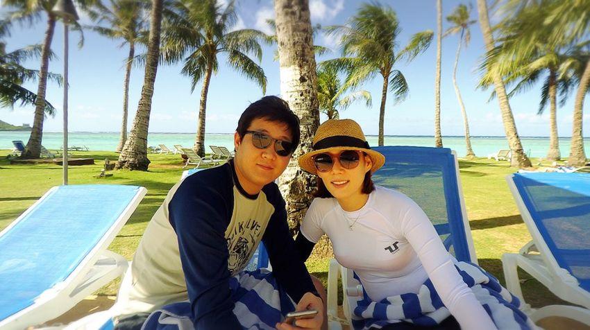 오지연과 크리스마스 여행 Guam MerryChristmas Beautiful Day Beautiful My Wife Enjoying Life Fiesta Resort