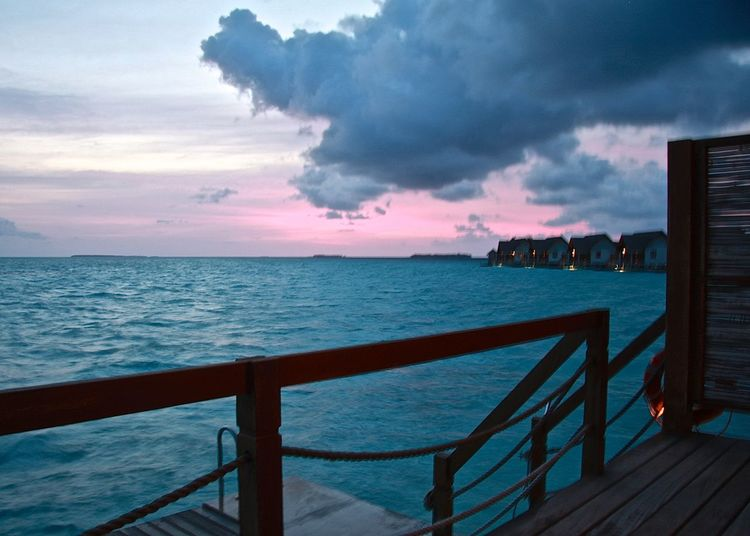Amazing Beauty In Nature Blue Blue Hour Cloud - Sky Enjoying Life Holiday Horizon Over Water Idyllic Lifestyles Maldives Nature Ocean Pier Scenics Sea Seascape Sky Taking Photos Tranquil Scene Travel WaterVilla Watervillage Weather Wineandmore