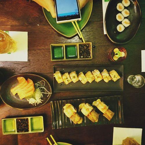 Sushi Groove??? Latepost Sushigroove Dinner Eating sashimi dragonflamerool sushimaki instafood foodaddict jakarta indonesia