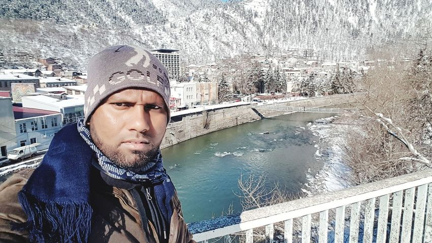 It's Me Travel Frozen Georgia Extreme Weather Beauty In Nature Snowing Environment Nature Cold Temperature Winter Snow River