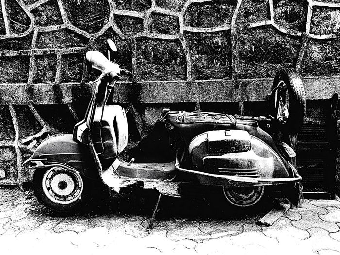 Old Scooter No People Old-fashioned Old Old But Awesome Scooter Bike Old Scooter Blackandwhite Black And White Eye4photography  EyeEm Best Shots EyeEm Blackandwhite Photography Streetphotography Interesting Vehicle Old Vehicle Worn Out Thrown Away EyeEm Gallery EyeEmBestPics EyeEm Best Shots - Black + White Eye4black&white  India