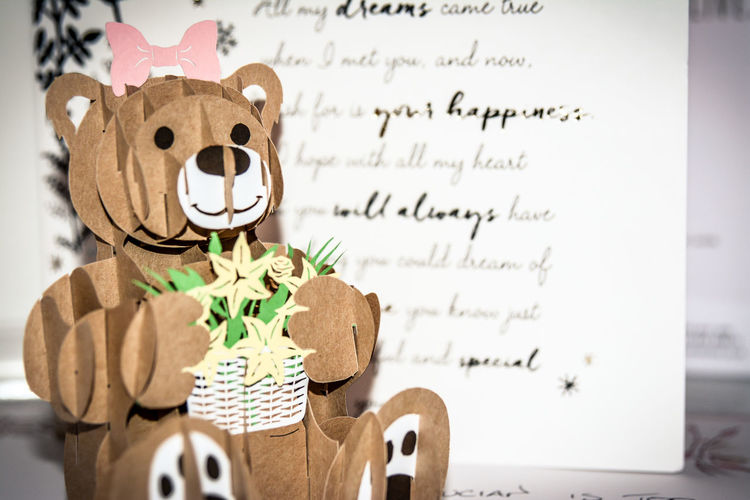 toy bear greeting card Toy Toy Bear Greeting Card  Origami Papercraft Paper Love Indoors  Day