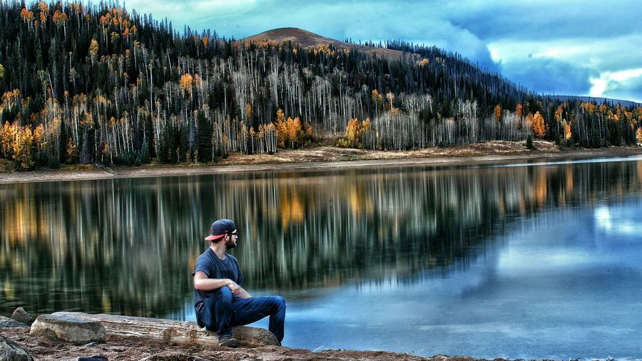 Outdoor Canon_official First Eyeem Photo Utah Fall Beauty Fall Colors Vibrantlife Mountains Hiking Lakeside Reflection Huntington Reservoir Water Reflections Fishing Clouds Lake Lake View Cool_capture_ Canonphotography Outdoor Photography Outdoors Cool Canont3i Canon Driftwood