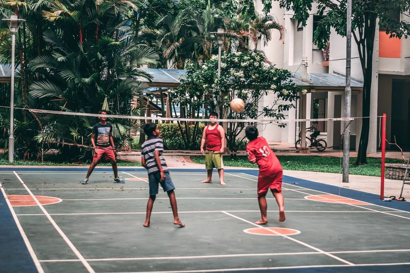 Back to the younger days Fun Kids Having Fun Kids Youth Basketball - Sport Basketball Hoop Basketball Player Group Of People Boys Togetherness First Eyeem Photo